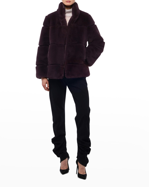 Skylar Faux Fur Tiered Short Coat