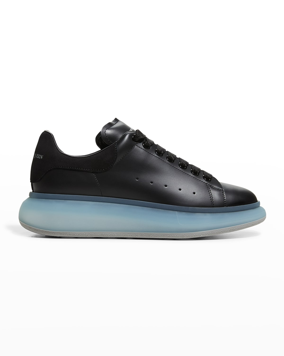 Men's Oversized Leather Clear-Sole Sneakers