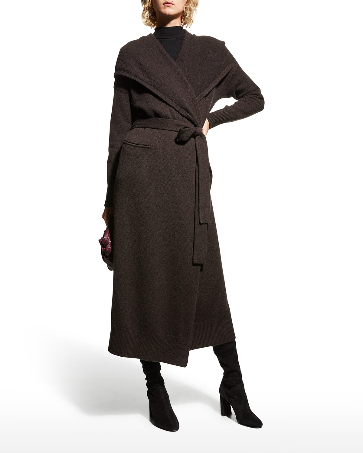 Hooded Wool-Cashmere Cardigan