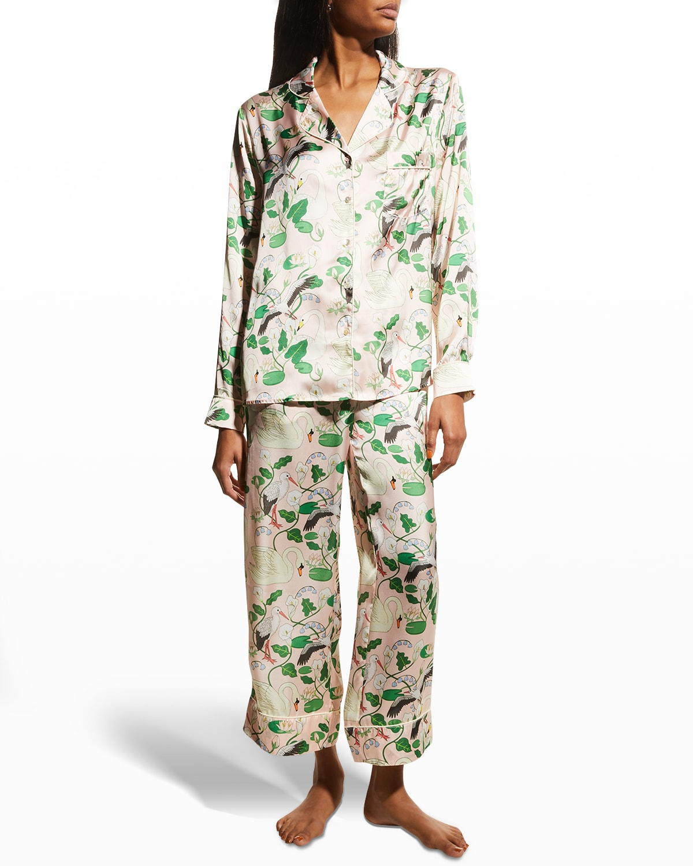 Botanical Gardens Satin Pajama Set