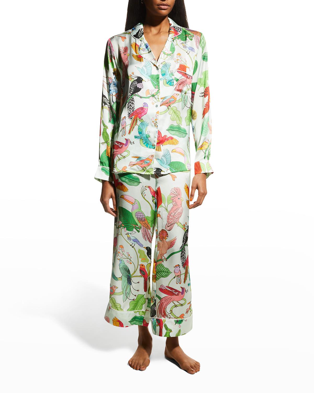 Birds of a Feather Satin Pajama Set
