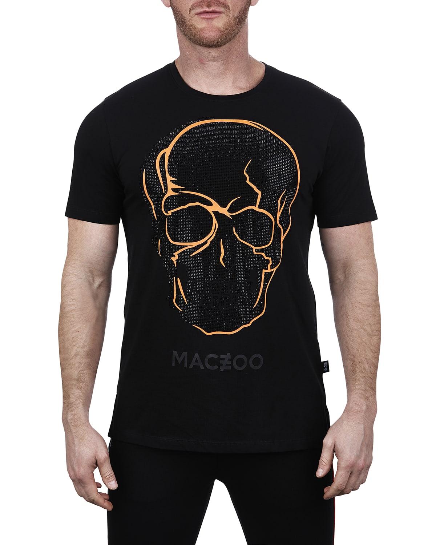 Men's Orange Skull T-Shirt