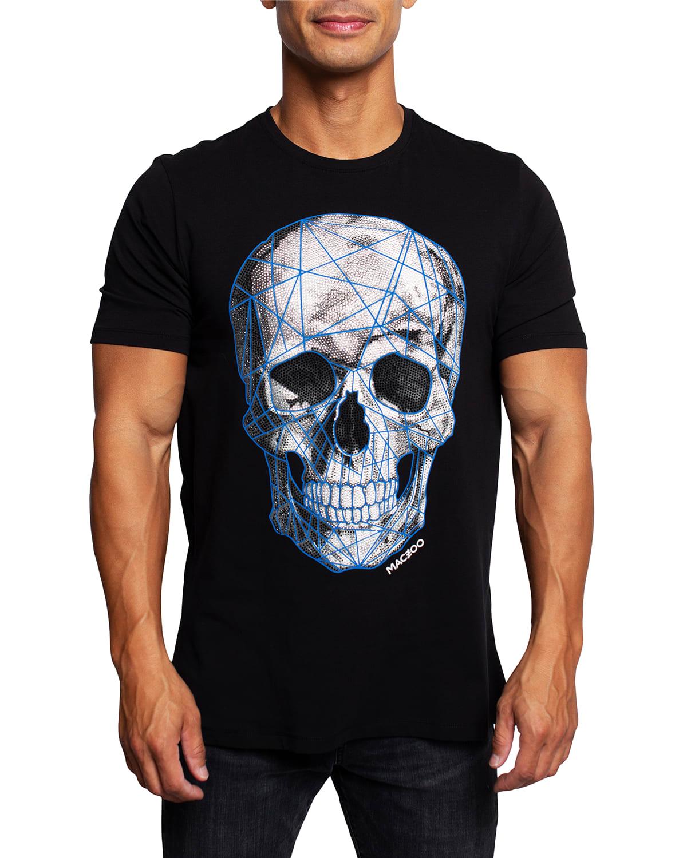 Men's Blue Skull T-Shirt
