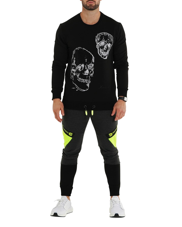 Men's Double Skull Sweater