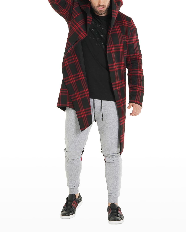 Men's Check Hooded Jacket