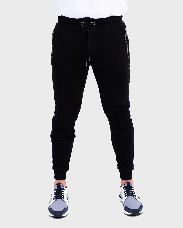 Men's Slim Side-Stripe Jogger Pants