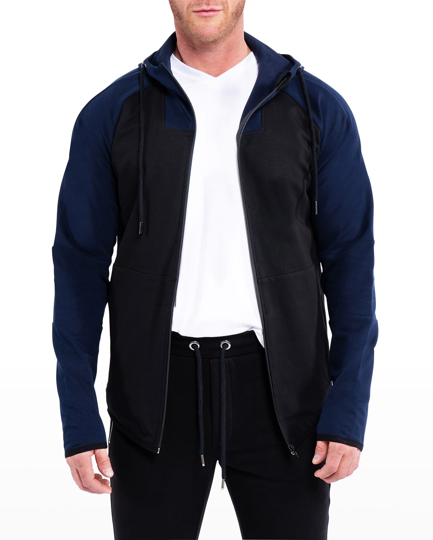 Men's Luxe Colorblock Zip Hoodie