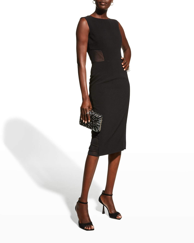 Bryson Mesh Cutout Bodycon Dress