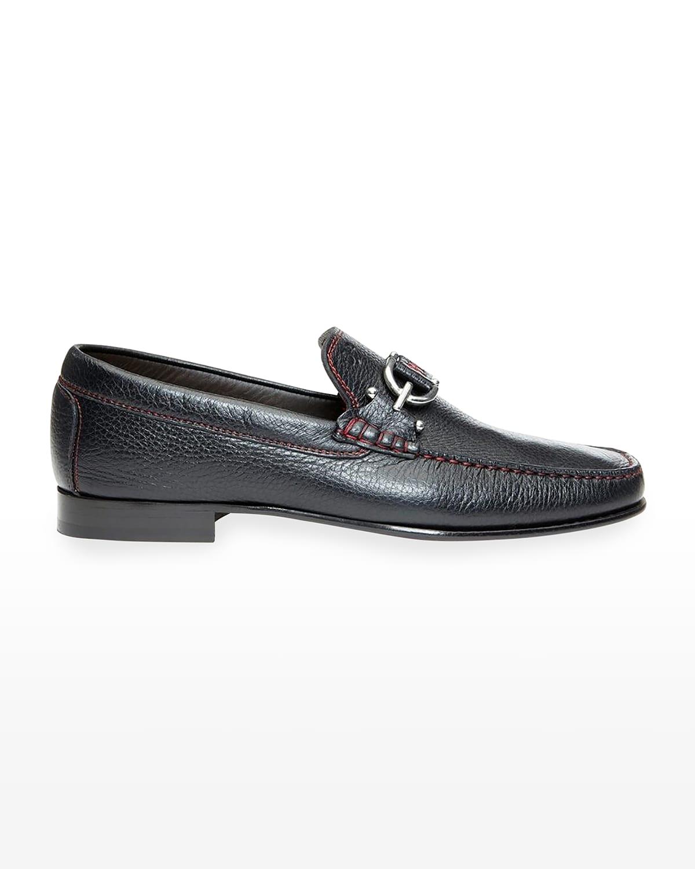 Men's Dacio Contrast-Stitch Loafers