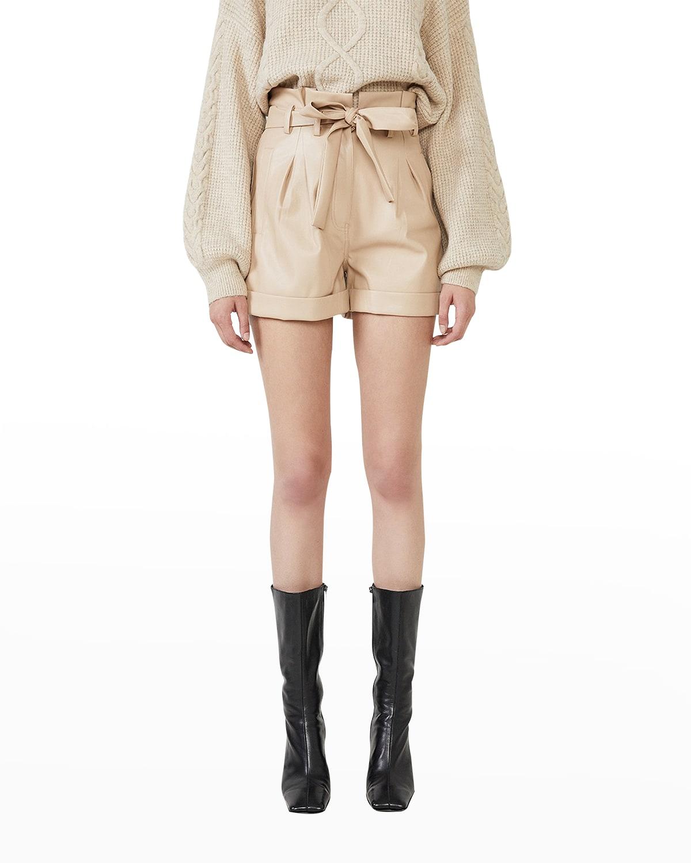 Belle Vegan Leather Paperbag Shorts