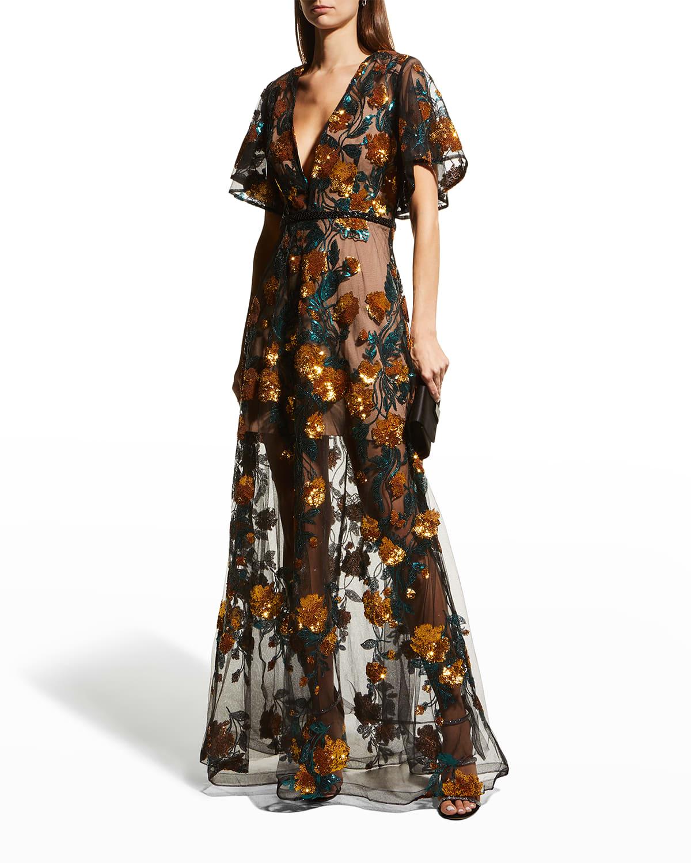 Rafaella Maxi Dress with Mini Lining
