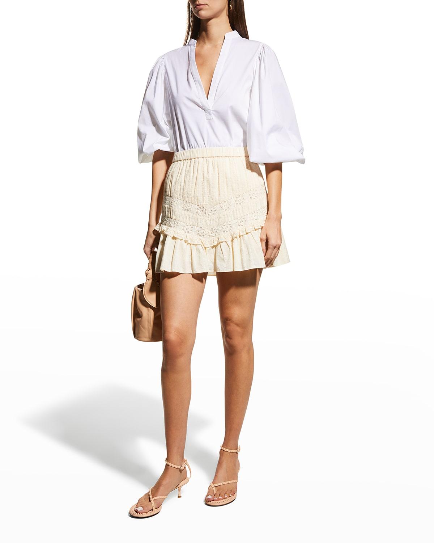 Cove Striped Dobby Cotton Mini Skirt