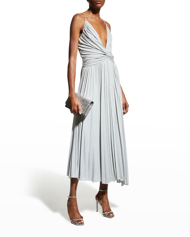 Jody Plunging Asymmetric Knit Dress