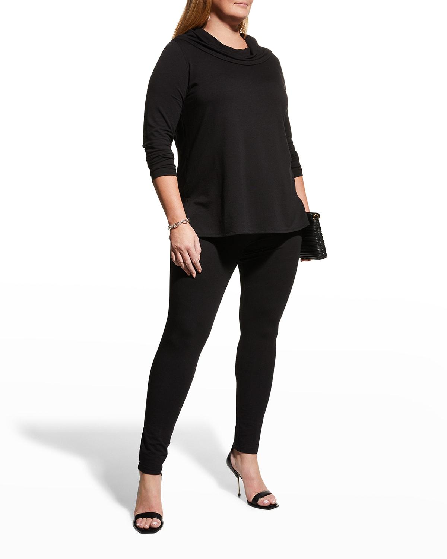 Plus Size Cowl-Neck Long-Sleeve Tunic