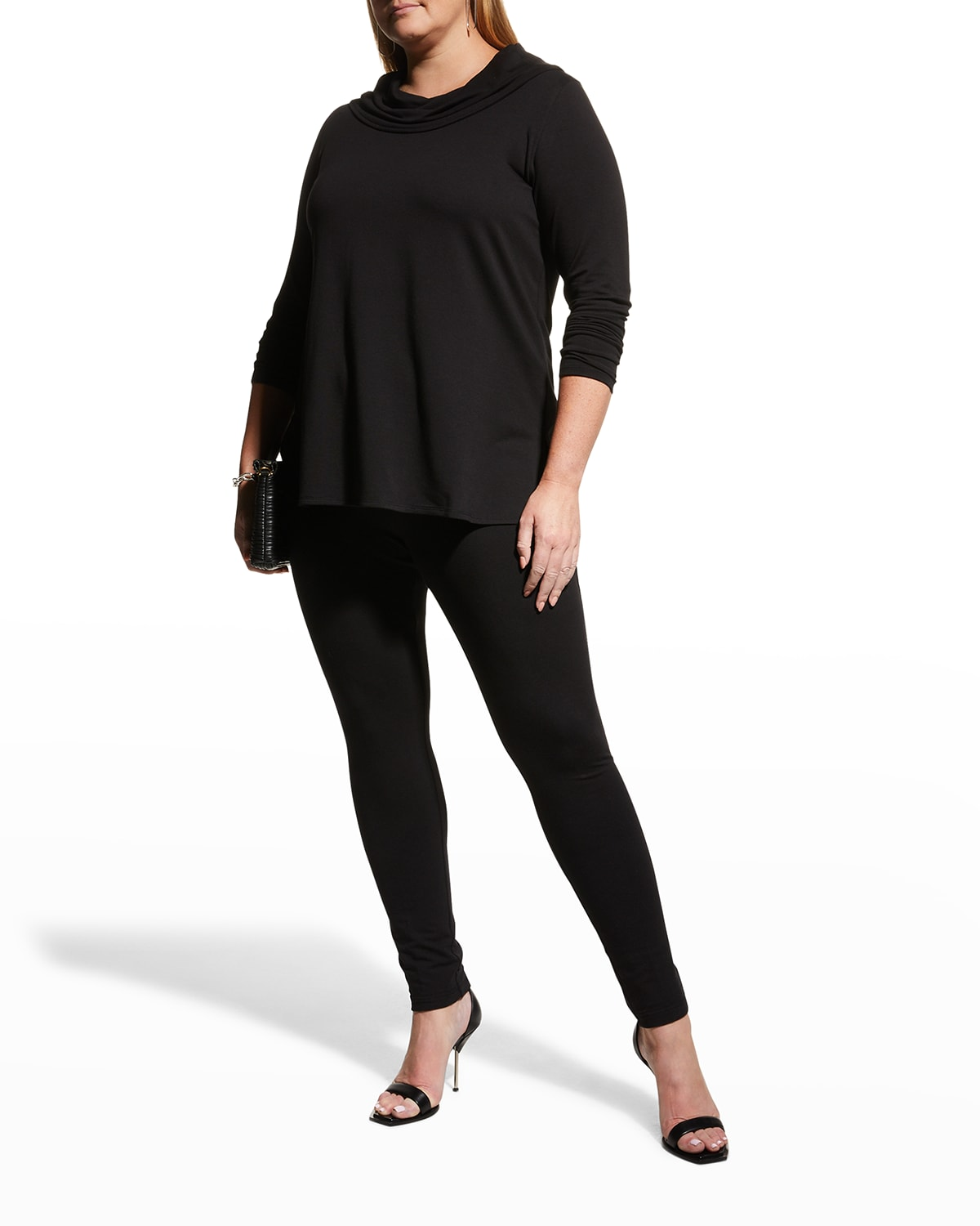 Plus Size Easy French-Terry Leggings