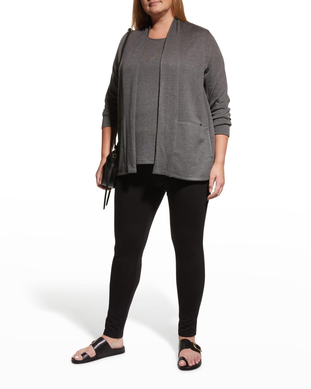 Plus Size French Terry Kimono Cardigan