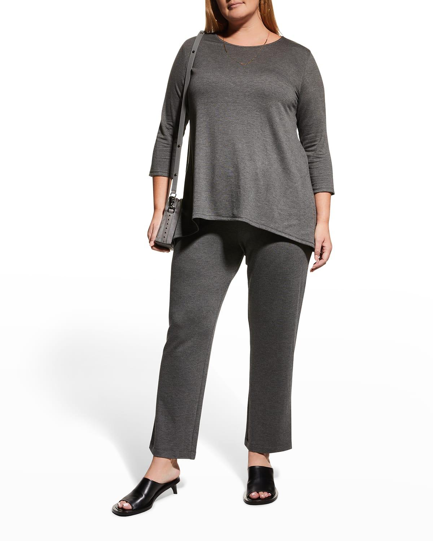 Plus Size 3/4-Sleeve Spa Tunic