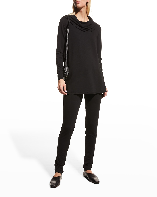 Cowl-Neck Long-Sleeve Tunic