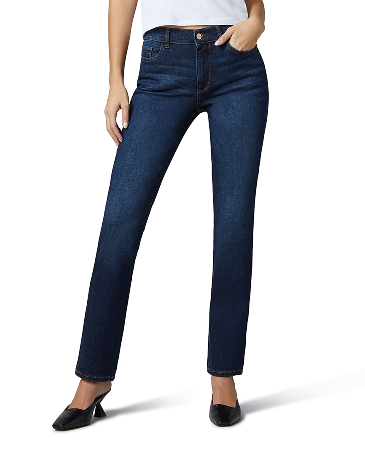 Coco Straight Mid-Rise Curvy Jeans