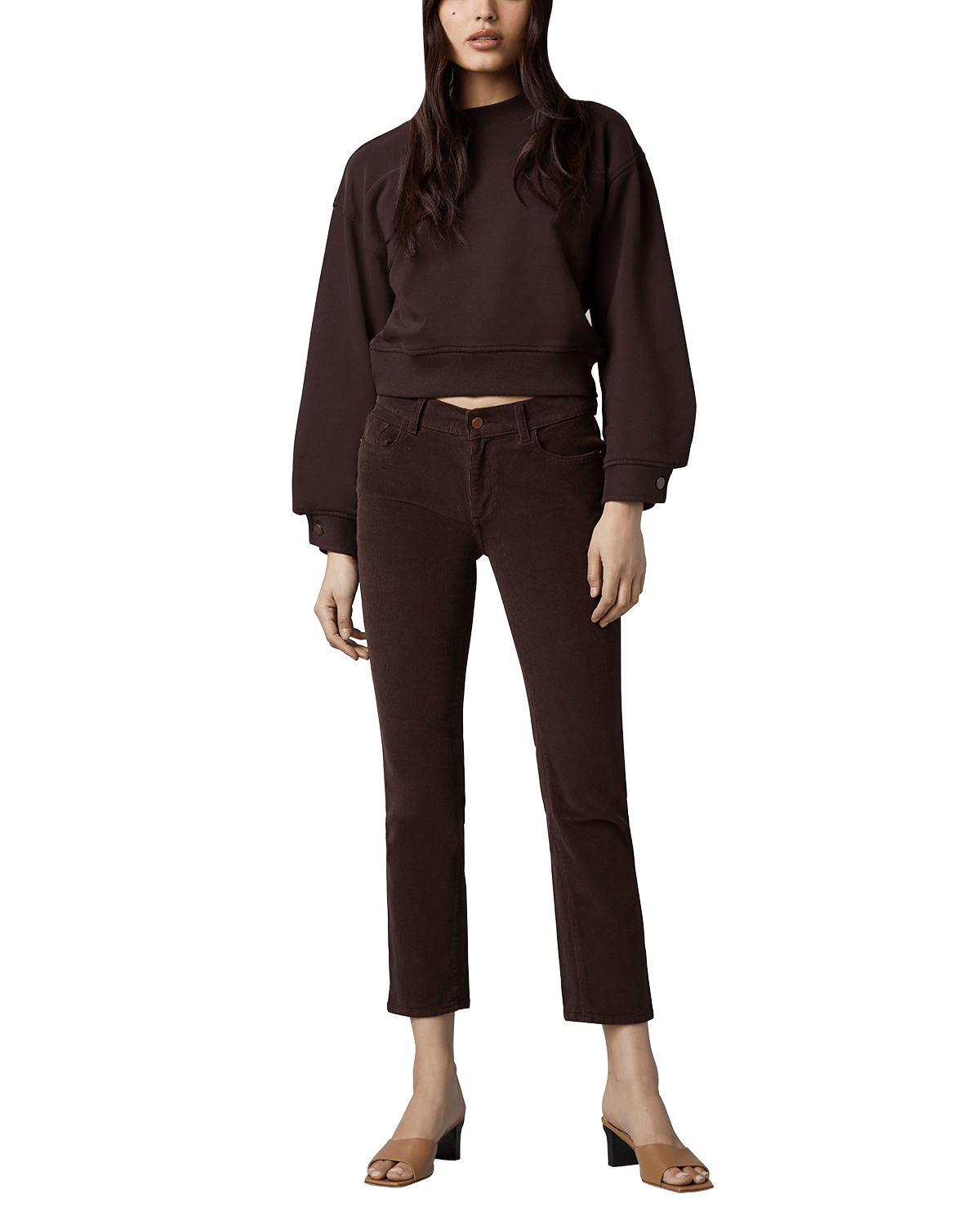 Mara Straight Mid-Rise Instasculpt Ankle Jeans