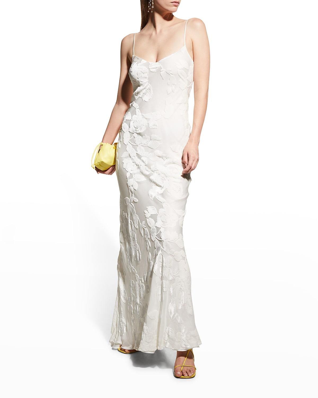 Frida Floral Velvet Maxi Dress