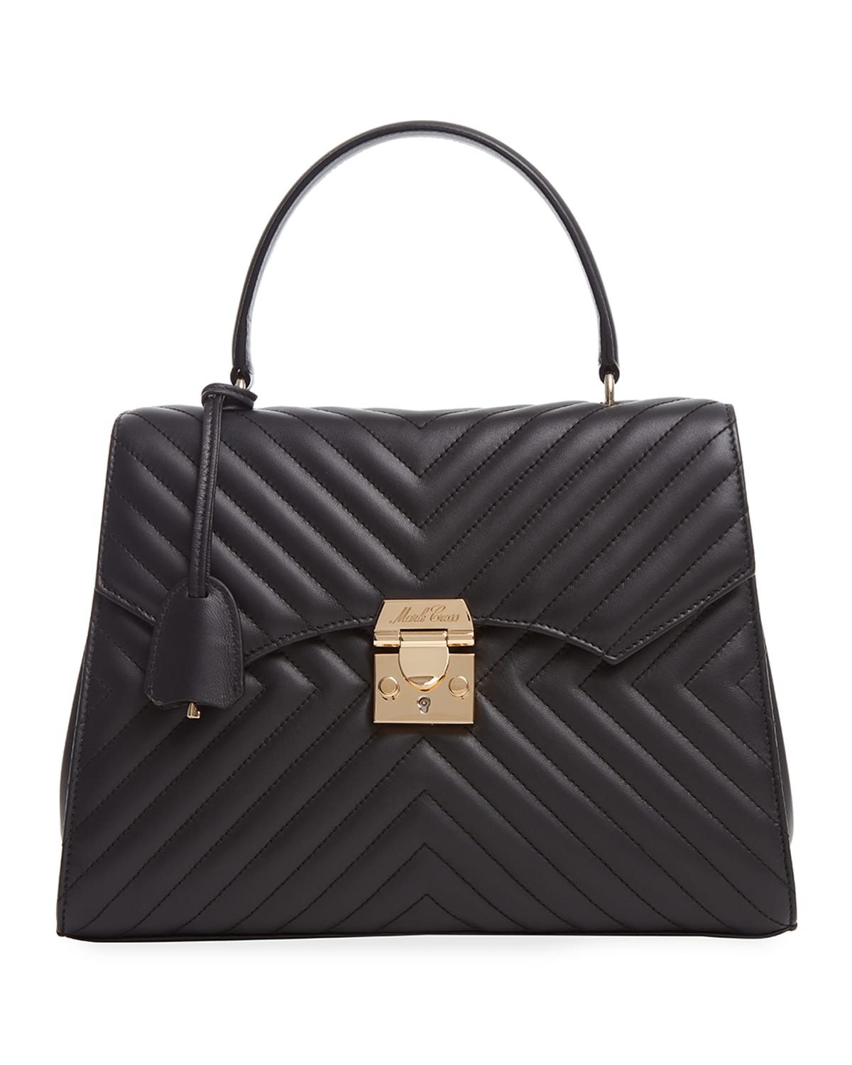Madeline Lady Quilted Napa Top-Handle Bag