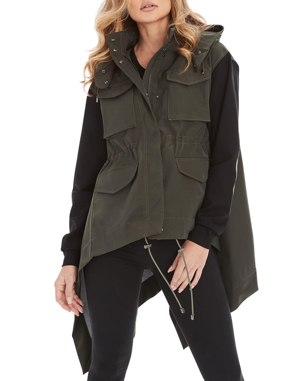Nariah Mixed Media Hooded Jacket