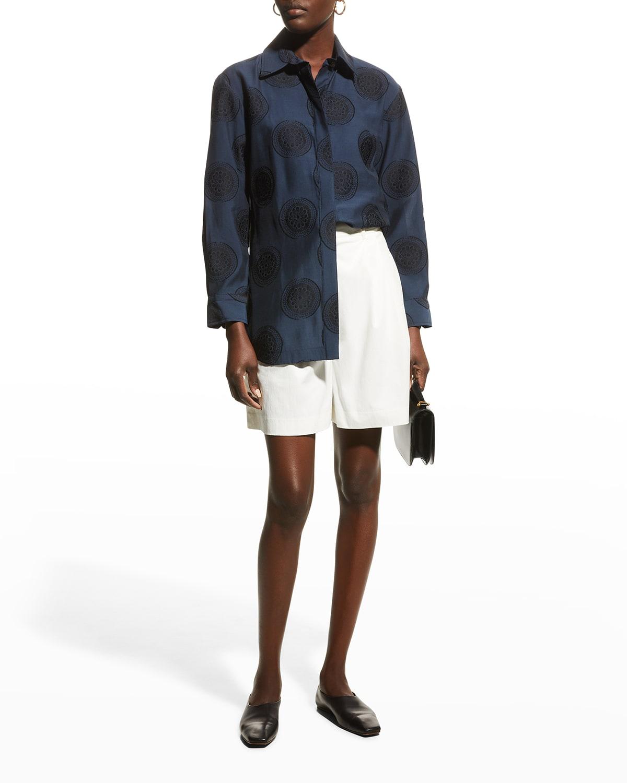 Medallion Button-Front Shirt