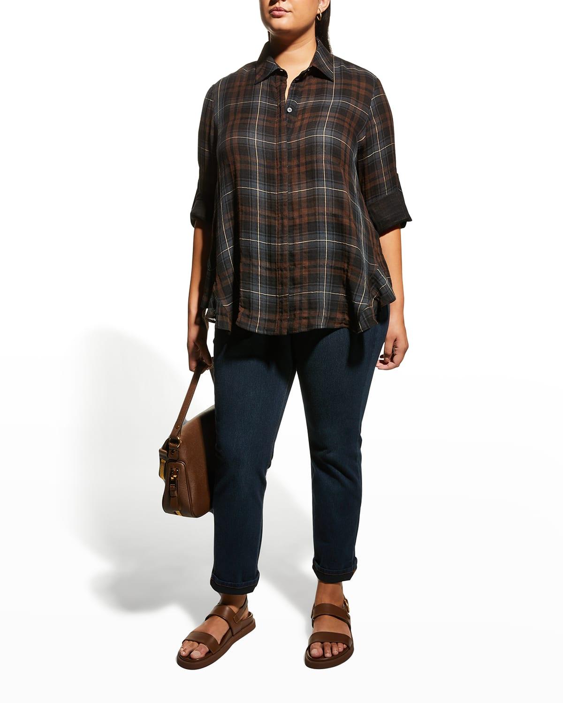 Plus Size Agatha Expresso Plaid Shirt