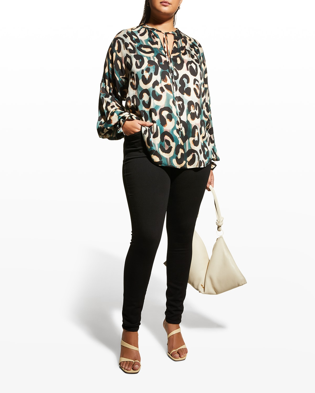 Plus Size Morrisey Abstract Jungle Top