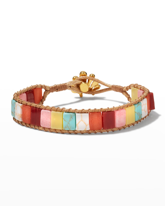 Stacked Stone Cord Bracelet