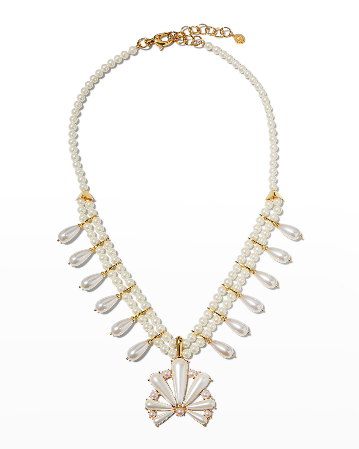 Scalloped Pearly Statement Necklace