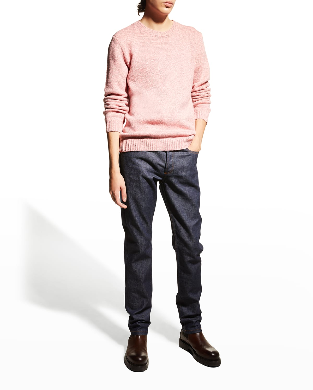 Men's Solid Wool Sweater