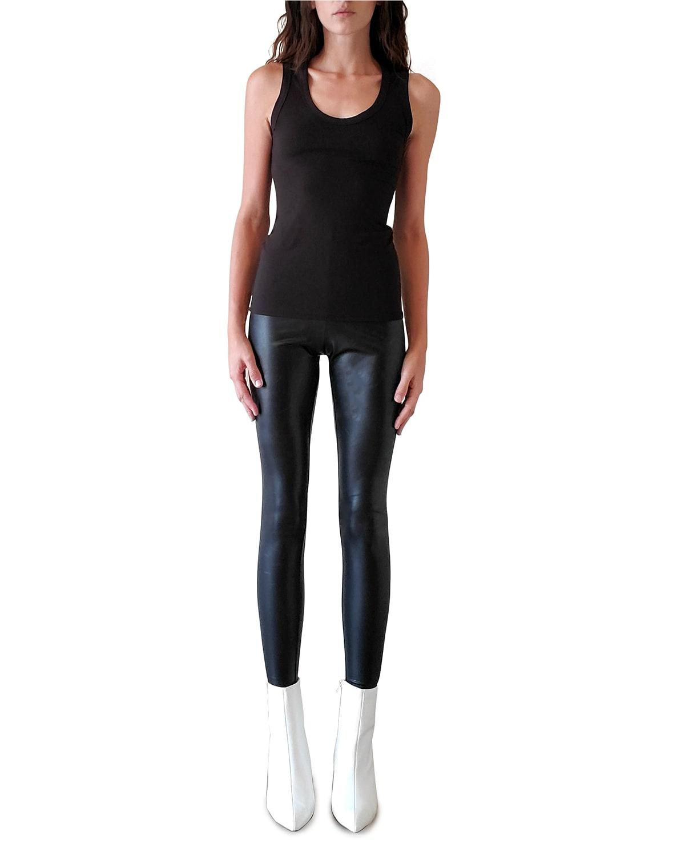 Ashley Vegan Leather Leggings