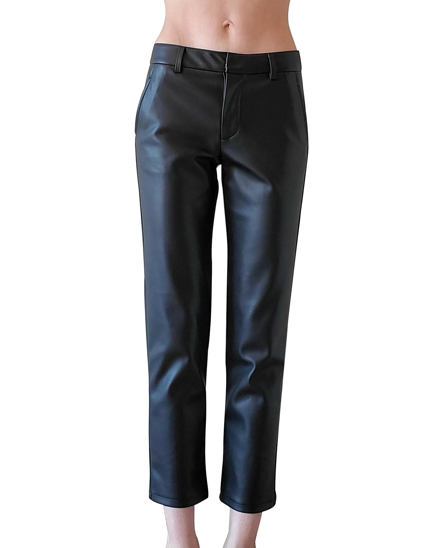 Franny Vegan Leather Trousers
