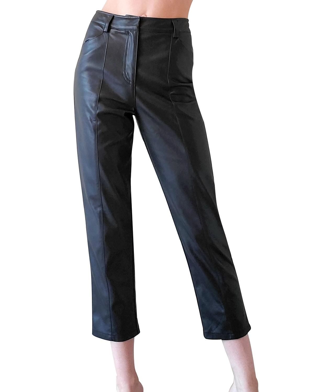 Jen Vegan Leather Trousers