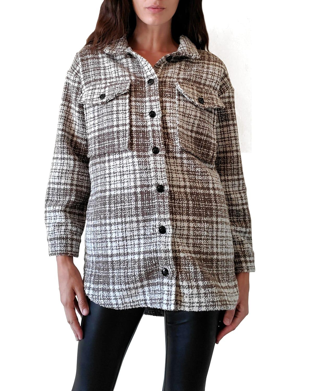 Pamela Plaid Button-Up Shirt