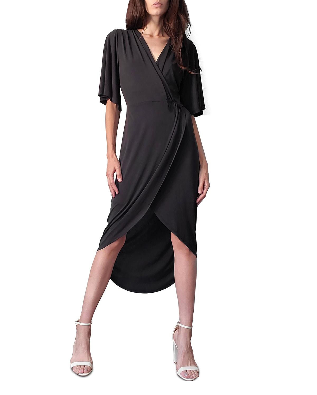Courtney Gathered High-Low Dress