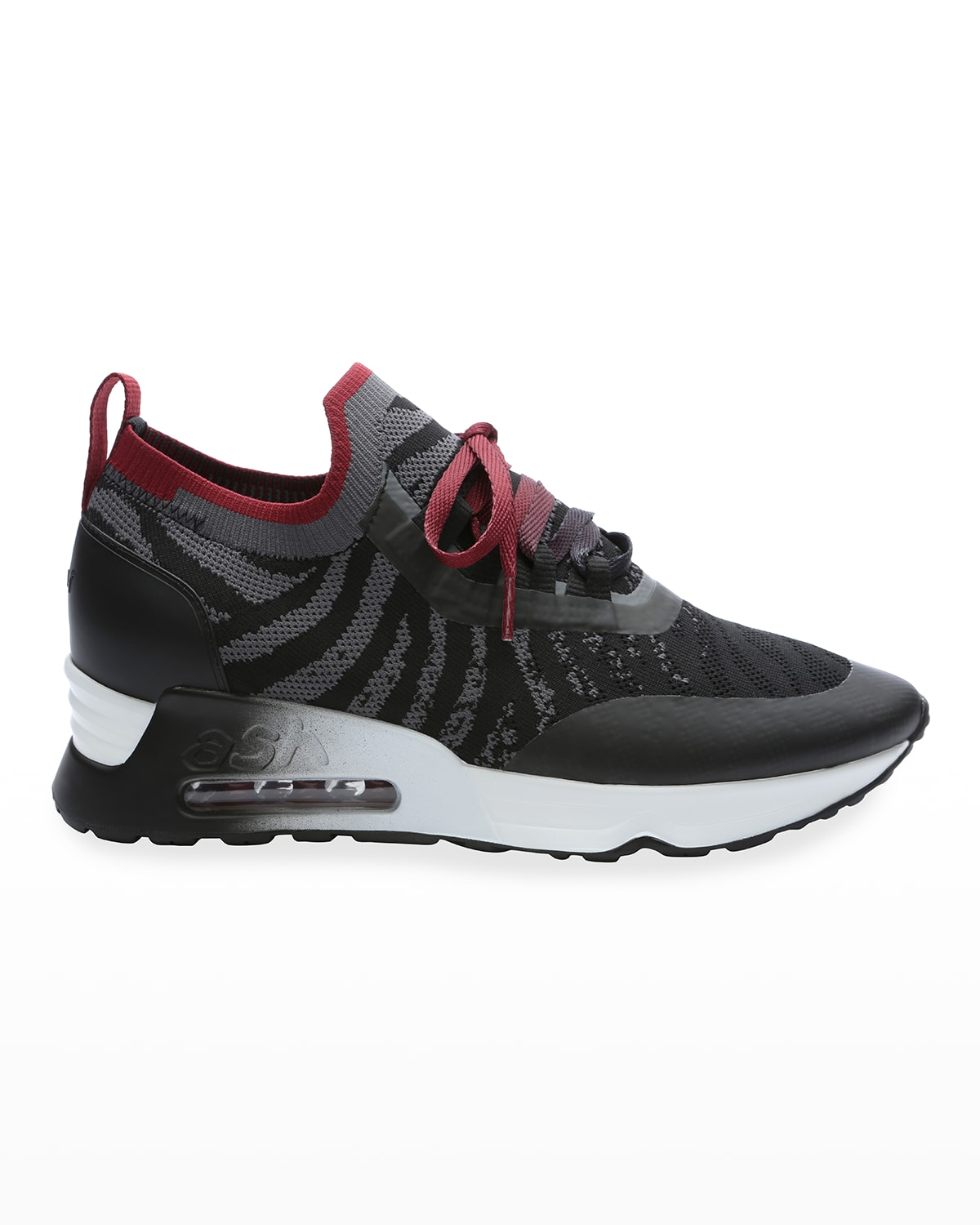 Loto Bicolor Knit Lace-Up Sneakers