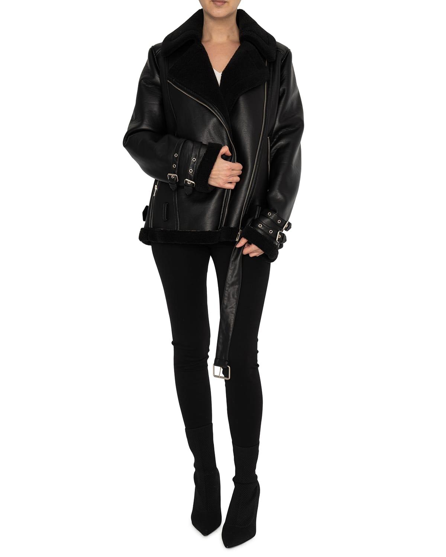 LM Oversized Vegan Leather Moto Jacket