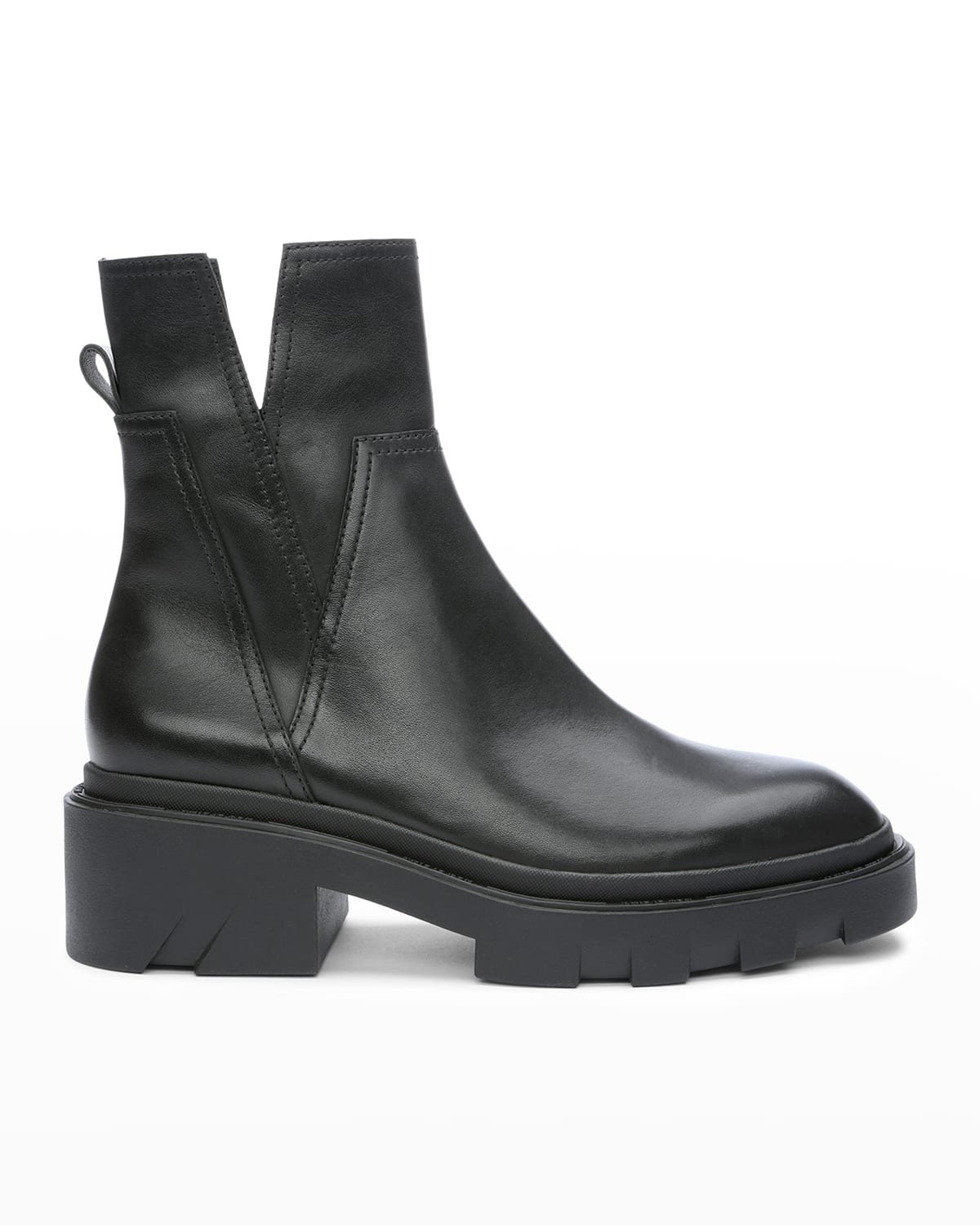 Melrose Leather Lug-Sole Booties
