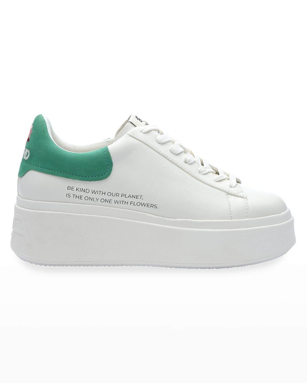 Moby Be Kind Bicolor Platform Sneakers