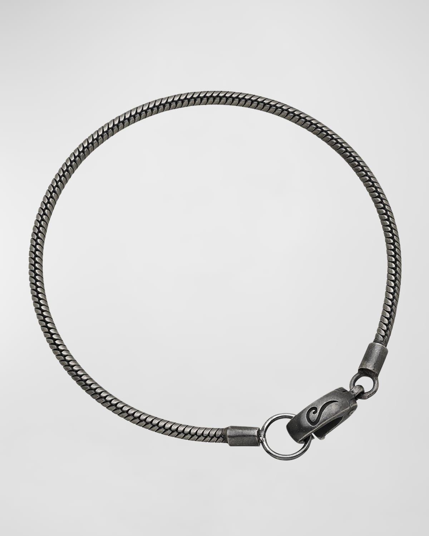 Classy Oxidized Silver Bracelet