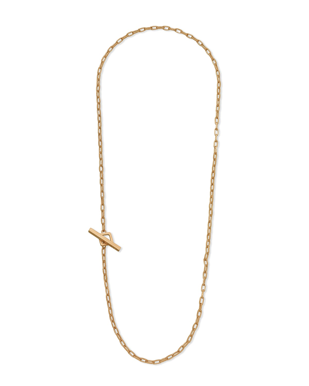 Handmade Yellow Gold Plated Silver Necklace with Matte Chain