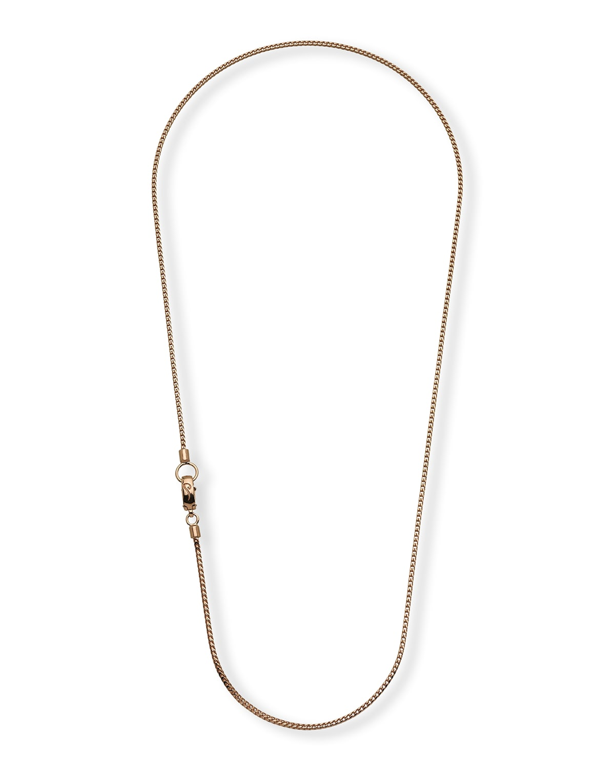 Rose Gold Plated Silver Necklace with Polished Chain