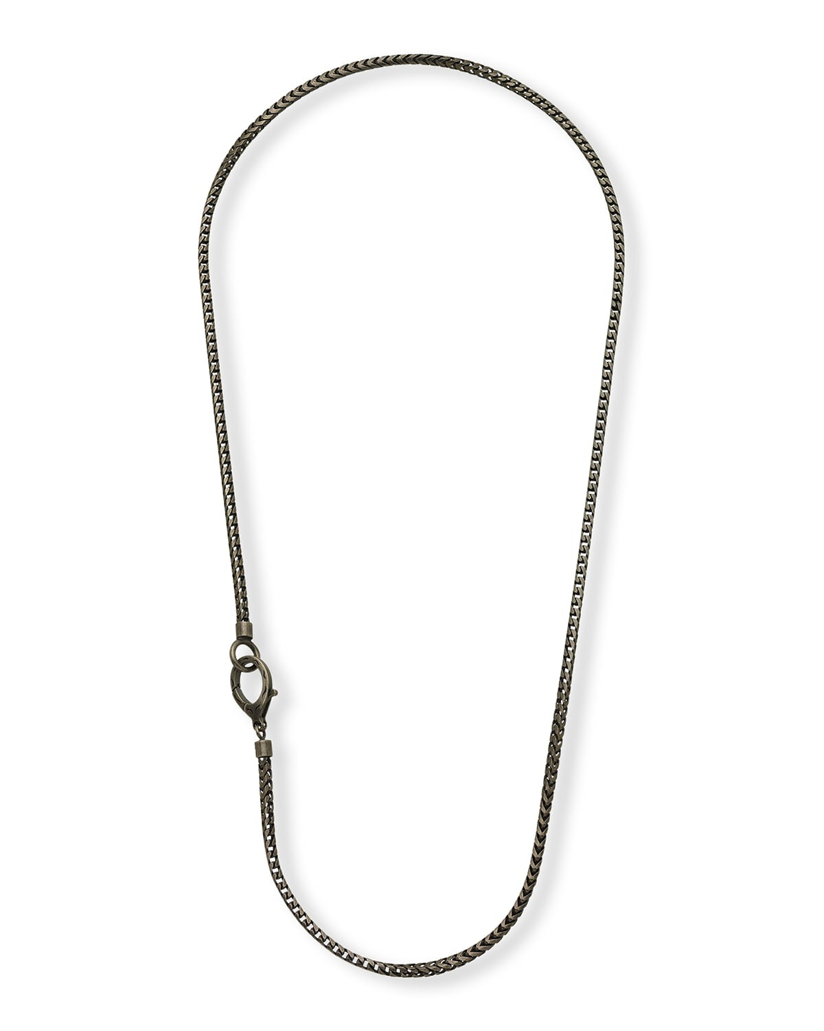 Mesh Oxidized Silver Necklace