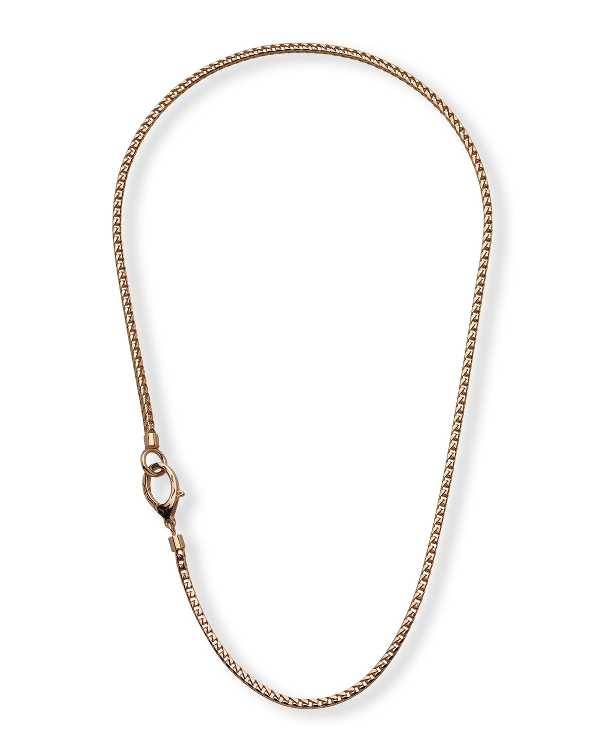Mesh Rose Gold Plated Silver Necklace