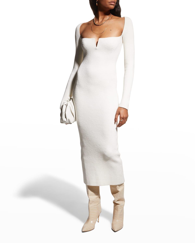 Freya Ribbed Midi Dress