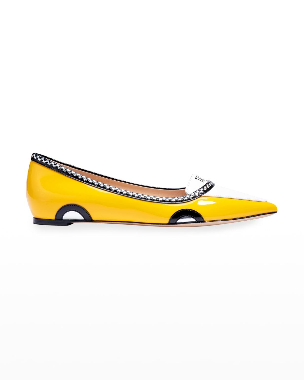 gogo taxi cab ballet flats