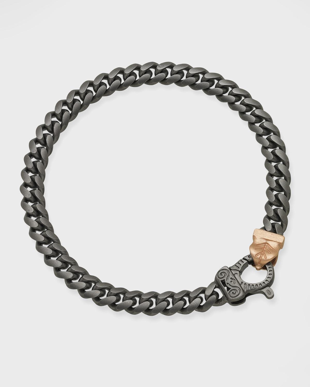 Flaming Tongue Thin Link Bracelet
